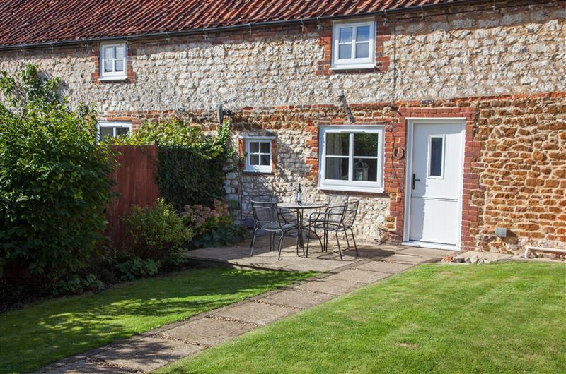 Garden at Woodpecker Cottage, Weyborne near Hunstanton, Norfolk