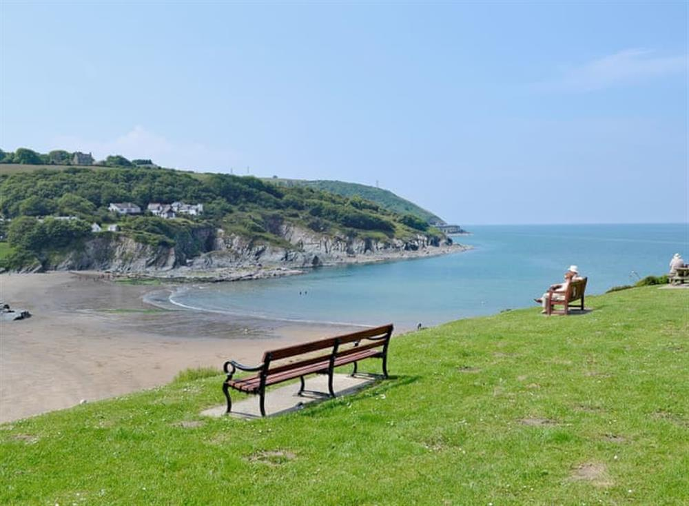 Aberporth Beach at Woodpecker Rest in Llechryd, near Cardigan, Cardigan, Dyfed