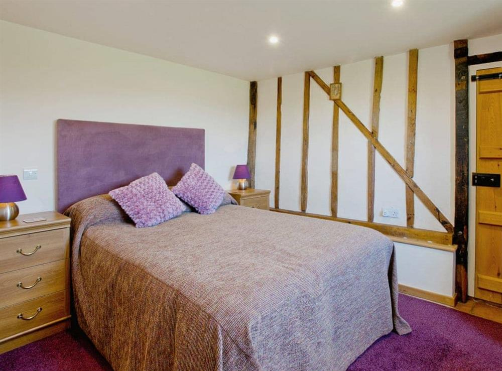 Double bedroom at Woodside Barn Cottages in Friston, Saxmundham, Suffolk., Great Britain