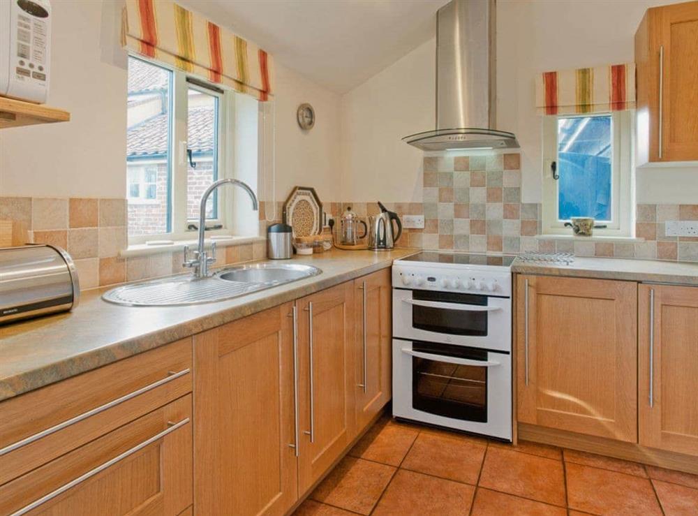 Kitchen at Woodside Barn Cottages in Friston, Saxmundham, Suffolk., Great Britain