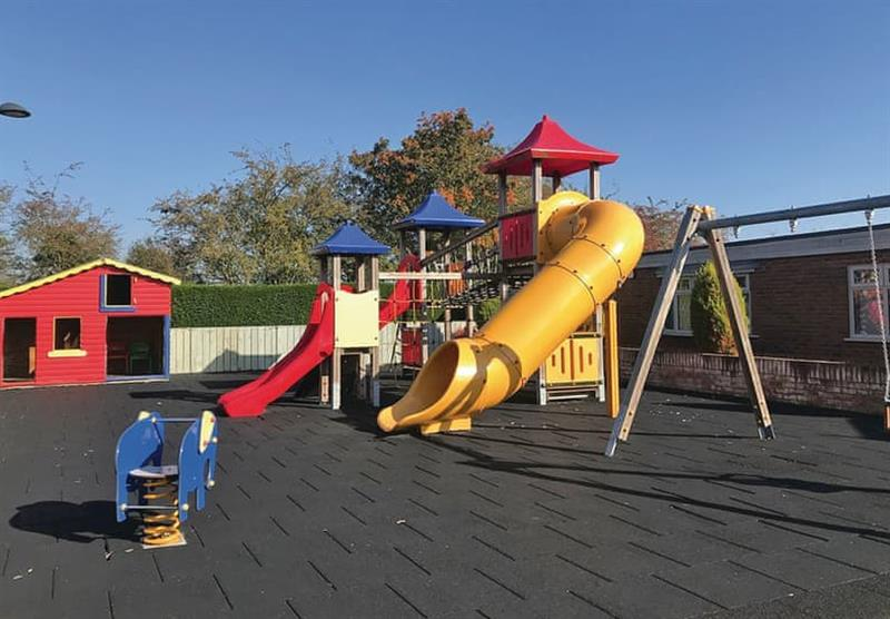Childrens play area at Woodthorpe Leisure Park in Woodthorpe, Lincolnshire