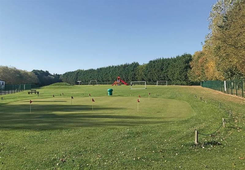 Golf course at Woodthorpe Leisure Park in Woodthorpe, Lincolnshire
