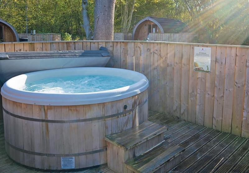 Hot tub in the Woodland Pod at Woodthorpe Leisure Park in Woodthorpe, Lincolnshire