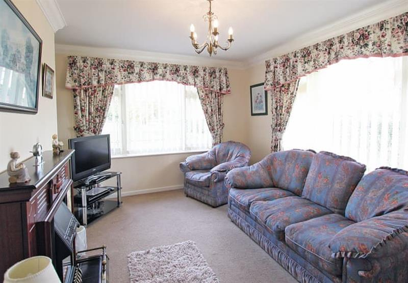 Inside the Rose Bungalow at Woodthorpe Leisure Park in Woodthorpe, Lincolnshire