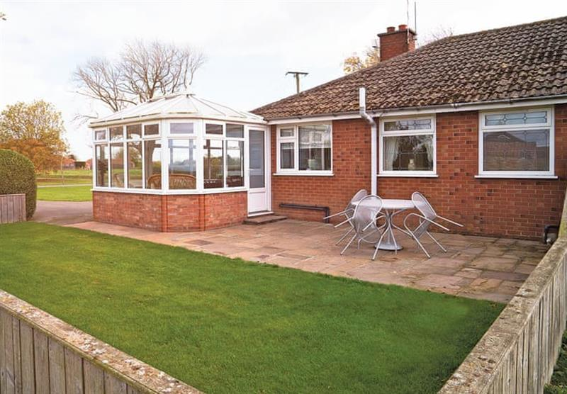Outside the Rose Bungalow at Woodthorpe Leisure Park in Woodthorpe, Lincolnshire