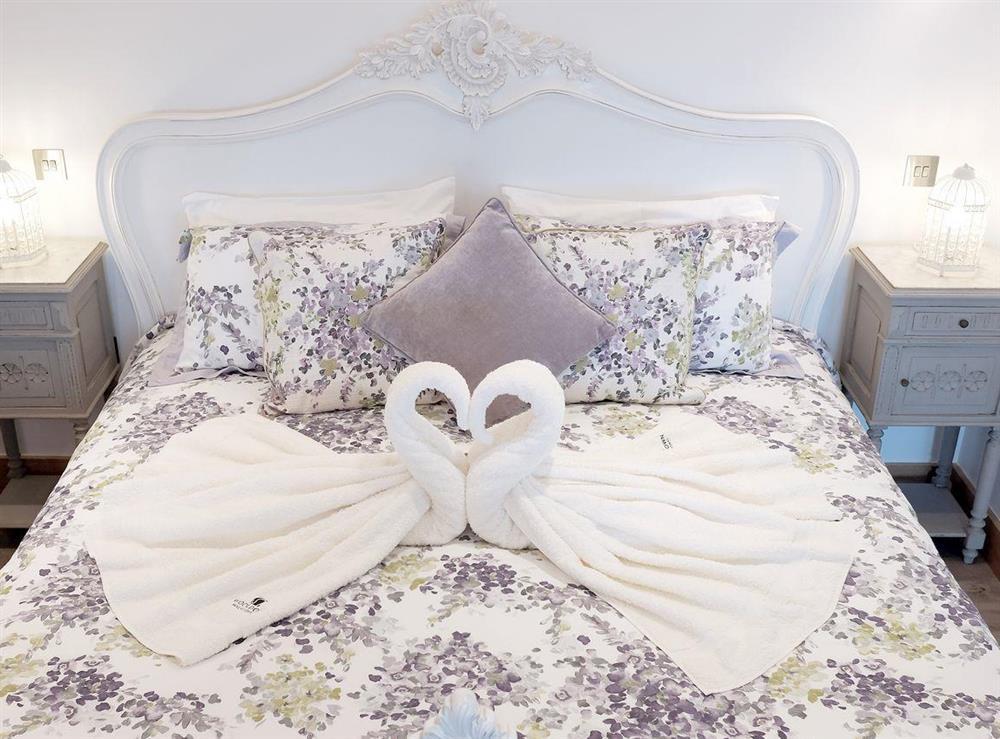Comfortable super kingsize bed