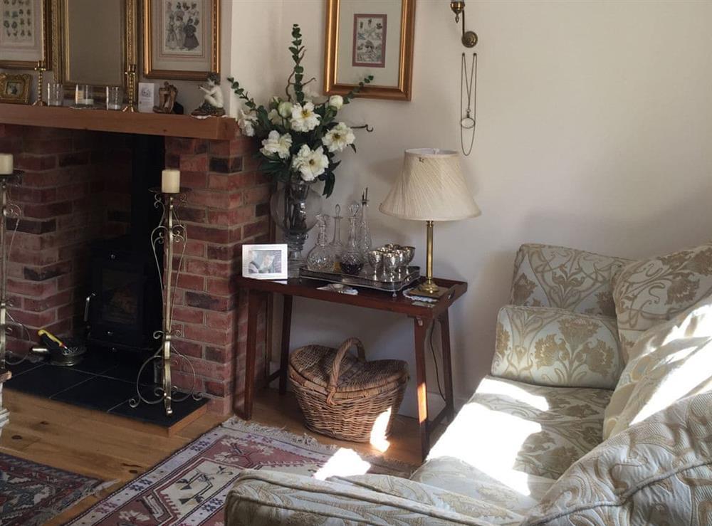 Living room at Worsdell Cottage in Netheravon, Wiltshire