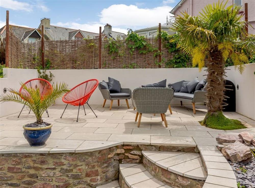 Ornate patio area