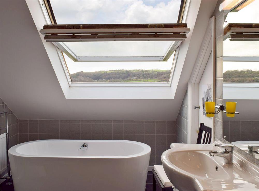 Contemporary bathroom at Y Dorlan in Cardigan, Dyfed