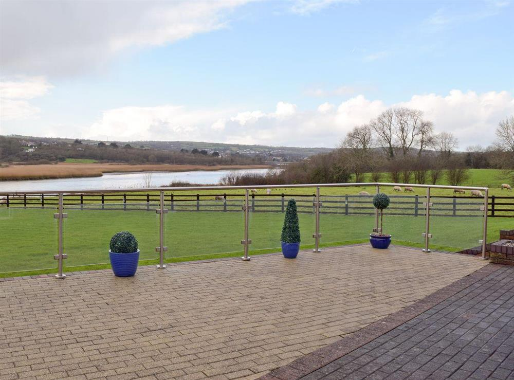 Grand terrace with private garden at Y Dorlan in Cardigan, Dyfed