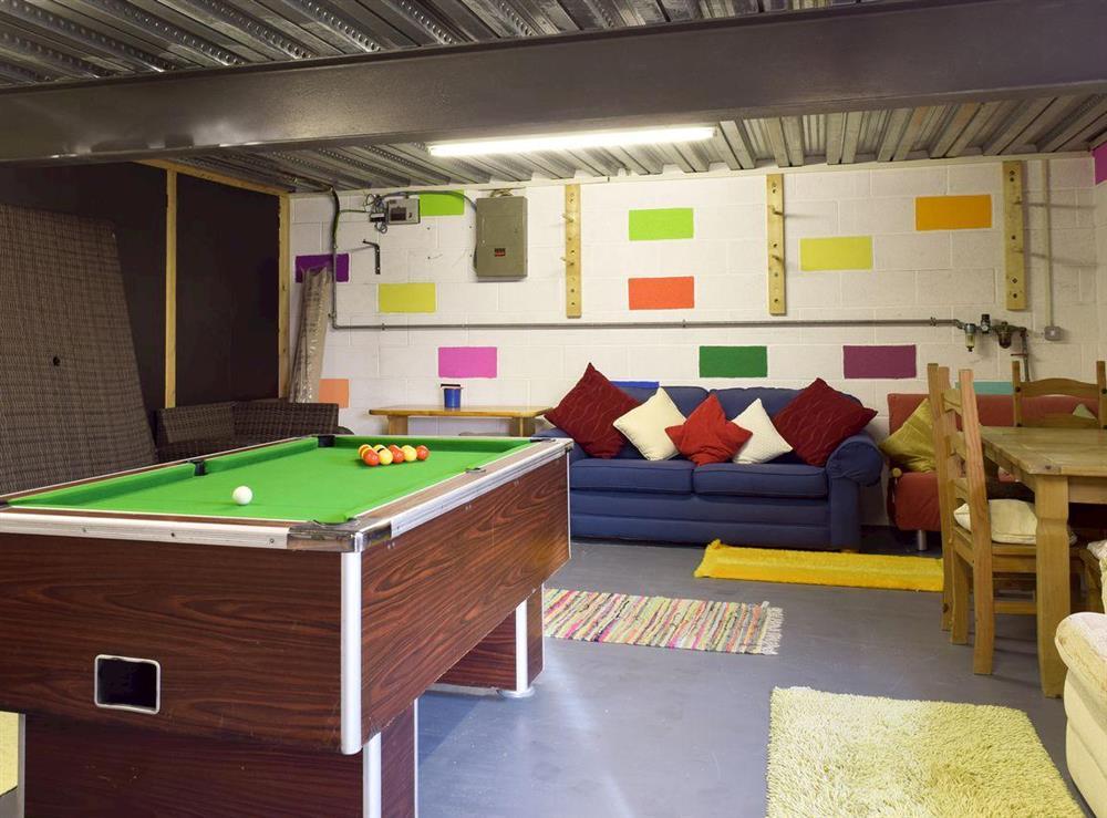 Informal games room at Y Dorlan in Cardigan, Dyfed