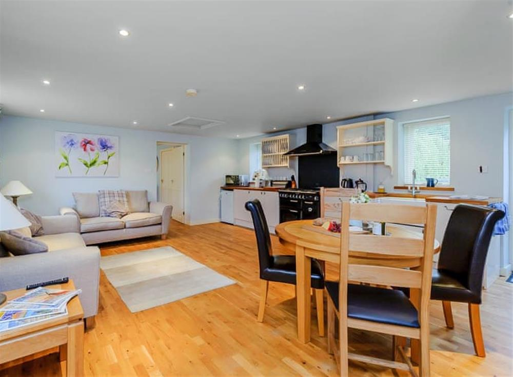 Lovely open plan living area at Coachmans Cottage,