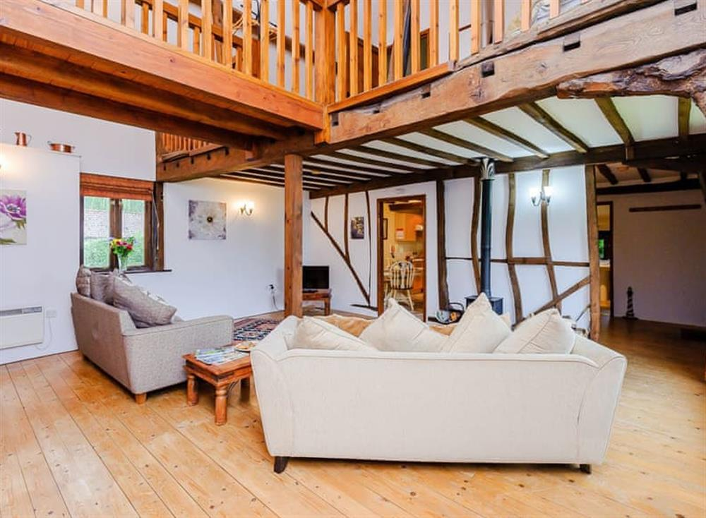 Living space with galleried landing