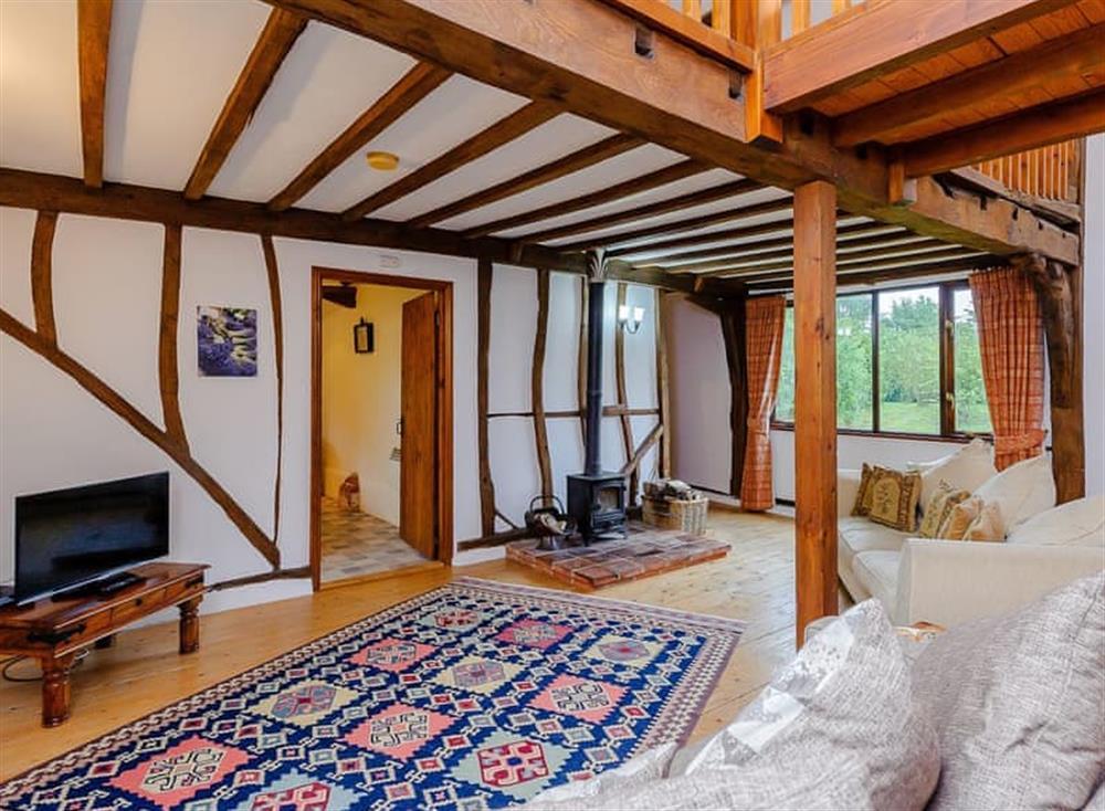 Wonderful beamed open living space at John Fanner Barn,
