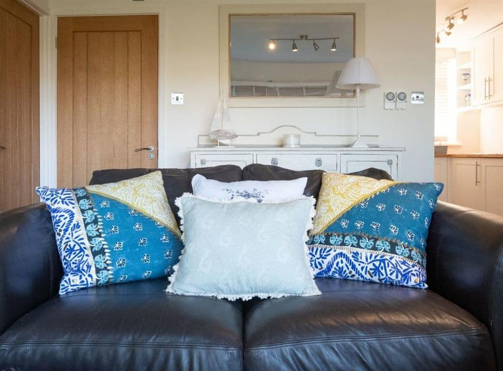 Comfortable seating within living area at Chalet Peace,