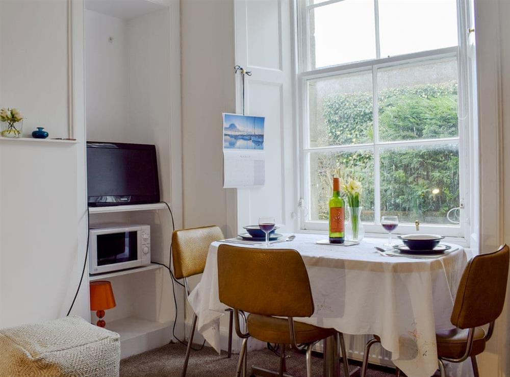 Living room/dining room at Zenas Cottage in Aberdour, near Burntisland, Fife